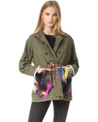 Harvey Faircloth - Fur Trimmed Field Coat - Lyst