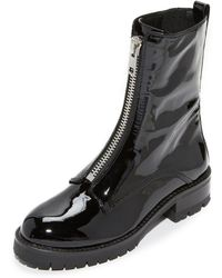 Alice + Olivia Dustin Zip Boots - Black