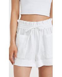 Tory Burch Linen Shorts - White