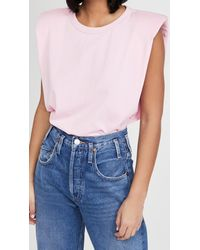 Endless Rose Padded Shoulder T-shirt - Pink