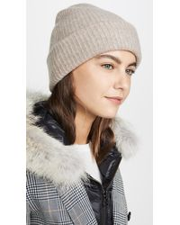 White + Warren Cashmere Plush Rib Beanie - Multicolour