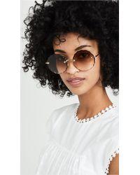 Chloé Rosie Scalloped Sunglasses - Multicolour