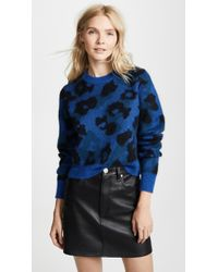 Rag & Bone - Blue Leopard Sweater - Lyst