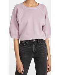 AMO Puff Sleeve Sweatshirt - Multicolor
