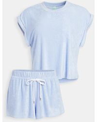 Honeydew Intimates Just Chillin Terry Cloth Pj Set - Blue