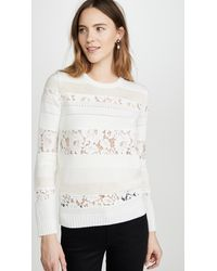 N°21 Lace Striped Sweater - Multicolor