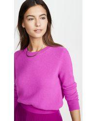 White + Warren Essential Crew Neck Cashmere Sweater - Pink