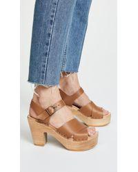 No. 6 - Coco Platform Sandals With Crisscross Straps - Lyst