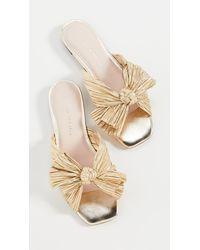 Loeffler Randall Daphne Knot Flat Sandals - Metallic