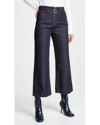 M.i.h Jeans - Caron Wideleg Jeans With Contrast Stitching - Lyst