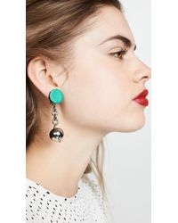 Marni - Leather And Metal Linear Drop Earrings - Lyst