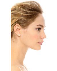 Adina Reyter - Opal & Diamond Hexagon Post Earrings - Lyst