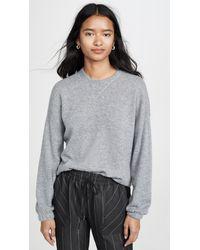 ATM Cashmere Crew Neck Sweater - Gray