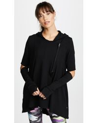 Terez - Hoodie With Elbow Slashes - Lyst
