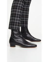 BY FAR Este 25mm Square Toe Ankle Boots - Black