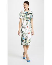 Yigal Azrouël - Multi Floral Scuba Body Con Dress - Lyst
