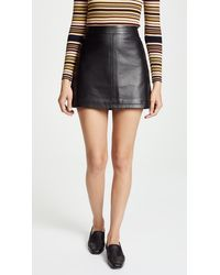 Cupcakes And Cashmere Marrie Leather A-line Skirt - Black