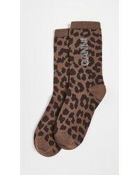 Ganni Polyamide Blend Socks - Brown