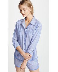 Pj Salvage - Feelin' Blue Pj Shirt - Lyst