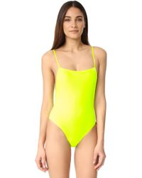 6fc515b2daa1 Solid   Striped - The Chelsea One Piece - Lyst
