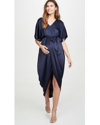 HATCH The Riviera Maternity Dress - Blue