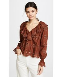 See By Chloé - Broderie Anglaise Top - Lyst