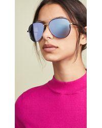 Quay Single Sunglasses - Blue