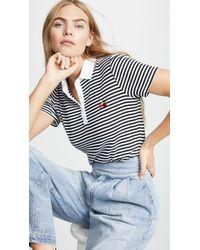 Three Dots - Bali Stripe Polo Shirt - Lyst