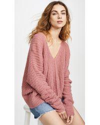 Free People - Moonbeam Alpaca Sweater - Lyst