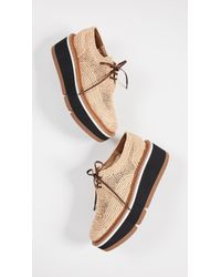 Robert Clergerie - Acajou Wedge Oxford Shoes - Lyst