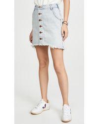 One Teaspoon Old West Viper High Waist Button Through Miniskirt - Multicolor