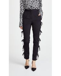 Self-Portrait - Bow Trousers - Lyst