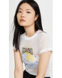 KENZO Mesh Fitted T-shirt - White