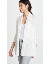 White + Warren - Cable Cardigan - Lyst