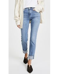Citizens of Humanity Cara High Rise Cigarette Jeans - Blue