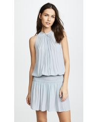 Ramy Brook - Paris Sleeveless Elastic Waist Mini Dress - Lyst