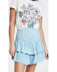 Free People Ruffles In The Sand Skirt - Blue