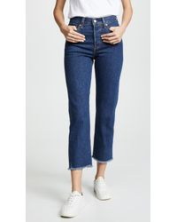 Levi S Wedgie Corduroy Straight Jeans In White Lyst