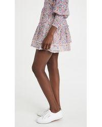 BB Dakota Ruffle Mini Skirt - Multicolor