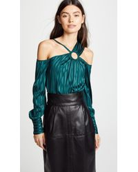 Yigal Azrouël - Cold Shoulder Top With Ring - Lyst