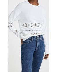 N°21 Lace Inset Sweater - White
