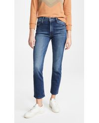 Mother The Mid Rize Dazzler Ankle Jeans - Blue