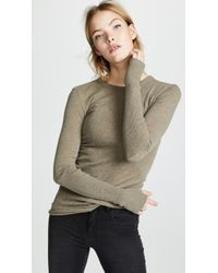Enza Costa - Cuffed Crew Long Sleeve - Lyst