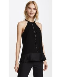 Yigal Azrouël - Pleated Detail Halter Neck Top - Lyst