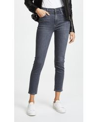Citizens of Humanity Rocket Crop High Rise Skinny Jeans - Blue