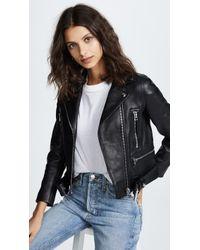 Acne Studios Leather Mock Jacket - Black