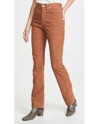 Agolde Vintage High Rise Flare Pants - Brown