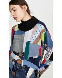 Ksenia Schnaider Oversized Patchwork Sweater - Blue
