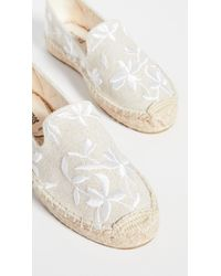 Soludos Shiloh Embroidered Espadrilles - White