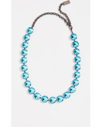 N°21 Strass Necklace - Blue